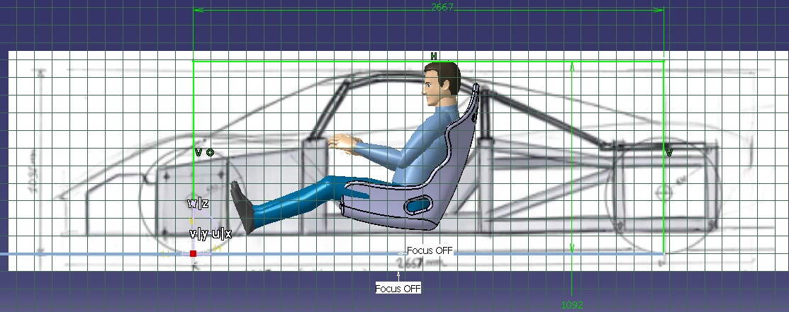 Racing Car Dummy Arrangement 1