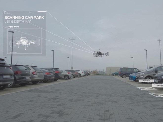 Подключенные беспилотники помогают при автономной парковке
