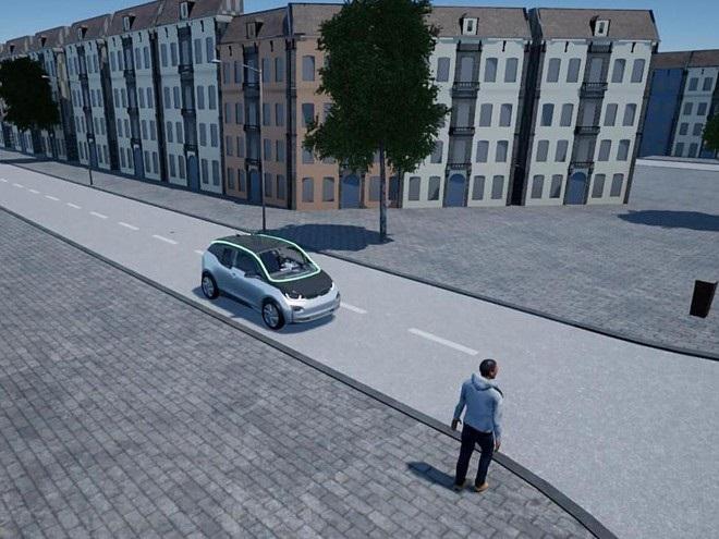 Автономные автомобили общаются между собой через светодиодную ленту